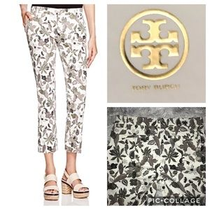 NWT TORY BURCH FLORAL CROPPED PANTS SIZE 27